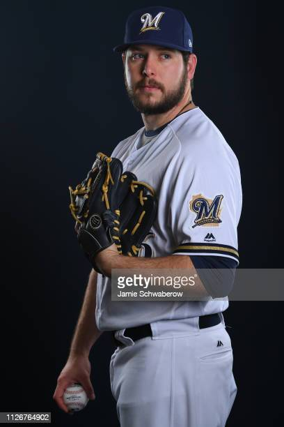 Aaron Wilkerson of the Milwaukee Brewers poses during the Brewers Photo Day on February 22 2019 in Maryvale Arizona
