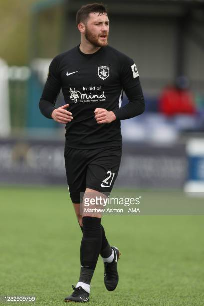 Aaron Williams of Connah's Quay Nomads during the Cymru Welsh Premier League match between Penybont and Connah's Quay Nomads at The SDM Glass Stadium...
