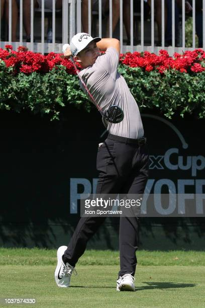Aaron Wise during the first round of the PGA Tour Championship on September 20 at East Lake Golf Club in Atlanta GA