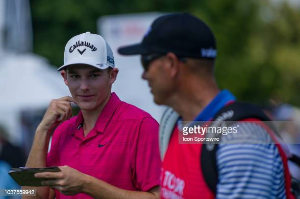 Aaron Wise during the second round of the PGA Tour Championship on September 21 at East Lake Golf Club in Atlanta GA