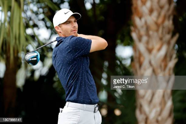 Aaron Wise of the United States plays his shot from the third tee during the second round of The Honda Classic at PGA National Champion course on...