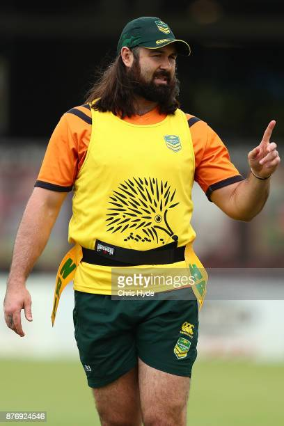 Aaron Woods during an Australian Kangaroos Rugby League World Cup training session at Langlands Park on November 21 2017 in Brisbane Australia