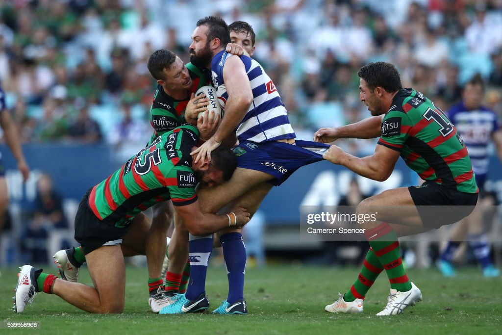NRL Rd 4 - Rabbitohs v Bulldogs : News Photo