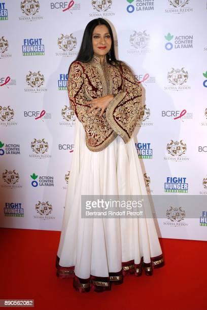 Aarti Surendranath attends Indian millionaire Sudha Reddy gives 135000 Euros to the Action Contre La Faim Breast Cancer Research Foundation at...
