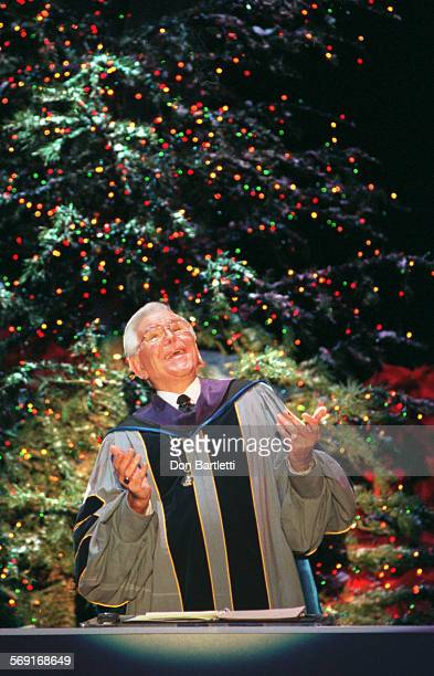 Schuller.Christmas.DB.12/24/97. Dr. Robert Schuller delivers his Christmas Eve sermon from at the Crystal Cathedral in Garden Grove.