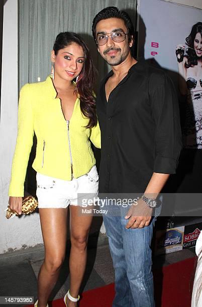 Aashish Chaudhary and Samita Bangargargi during the release of Anusha Dandekar international debut track Better than your EX in Mumbai on June 4 2012