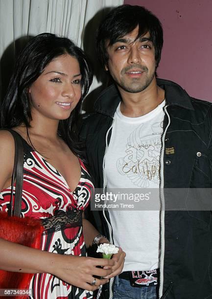 Aashish Chaudhary with Samita Bangargi Chaudhary at Rahul Nanda's Party at High Street Pheonix Mumbai