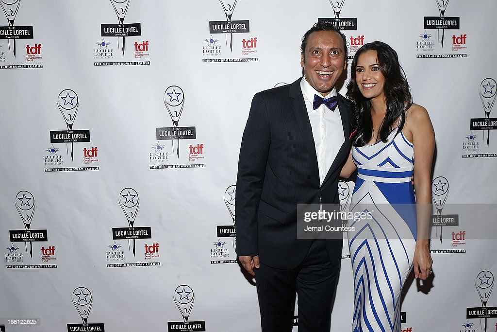 Aasif Mandvi and Sheetal Sheth attend the 28th Annual Lucille Lortel Awards on May 5, 2013 in New York City.