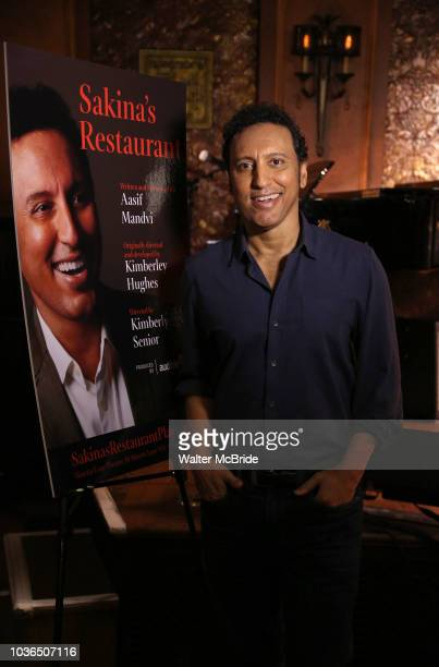 Aasif Mandvi attends the Photo Call for 'Sakina's Restaurant' on September 20 2018 at Feinstein's/54 Below in New York City