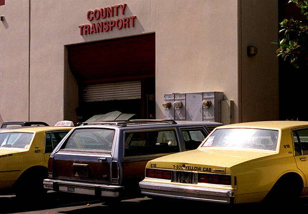 Taxi 0721 Gk California Yellow Cabs In Front The CompanyÕs