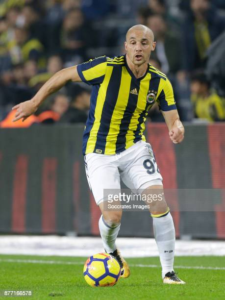 Aatif Chahechouhe of Fenerbahce during the Turkish Super lig match between Fenerbahce v Sivasspor at the Sukru Saracoglustadion on November 19 2017...