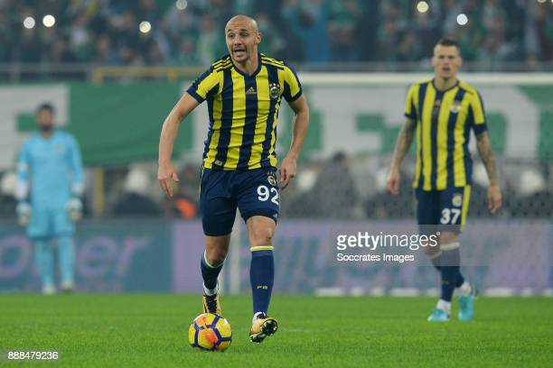 Aatif Chahechouhe of Fenerbahce during the Turkish Super lig match between Bursaspor v Fenerbahce at the Timsah Arena on December 8 2017 in Bursa...
