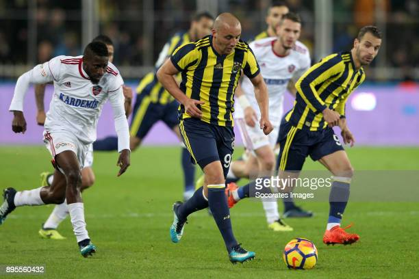 Aatif Chahechouhe of Fenerbahce during the Turkish Super lig match between Fenerbahce v Karabukspor at the Sukru Saracoglustadion on December 18 2017...