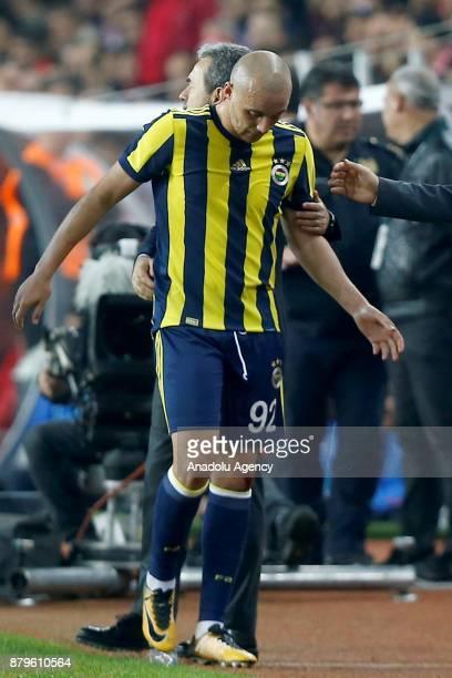 Aatif Chahechouhe of Fenerbahce is seen during the Turkish Super Lig match between Antalyaspor and Fenerbahce at Antalya Stadium in Antalya Turkey on...