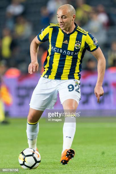 Aatif Chahechouhe of Fenerbahce SK during the Turkish Spor Toto Super Lig match Fenerbahce AS and Antalyaspor AS at the Sukru Saracoglu Stadium on...