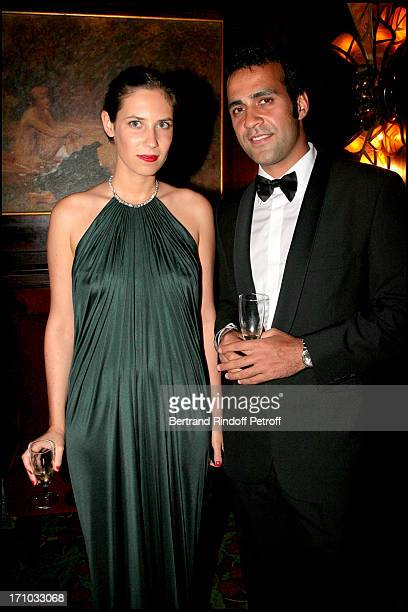 Aatish Taaser and Tatiana Santo Domingo Dinner at Maxim's to the benefit of the 'Fondation Motrice' for which Andrea Casiraghi accepted to become the...