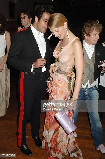 Aatish Taseer and Lady Gabriella Windsor attend the Raisa Gorbachev Foundation Launch Party at Althorp House on June 10 2006 in Northampton England...