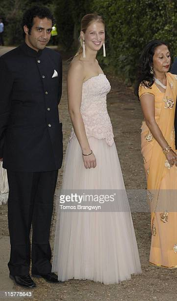 Aatish Taseer and Lady Gabriella Windsor during An Elephant Durbar Charity Dinner Arrivals at Petersham House in Richmond Great Britain