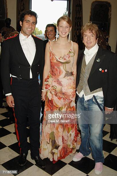 Aatish Taseer Lady Gabriella Windsor and designer Nicky Haslam attend the Raisa Gorbachev Foundation Launch Party at Althorp House on June 10 2006 in...