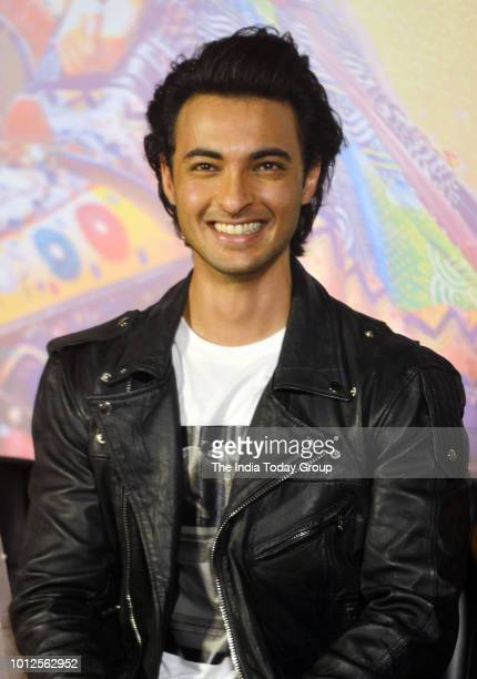 Aayush Sharma at the trailer launch of his movie Loveratri in Mumbai