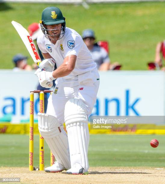 Ab de Villiers of South Africa in action during day 4 of the 2nd Sunfoil Test match between South Africa and India at SuperSport Park on January 16...