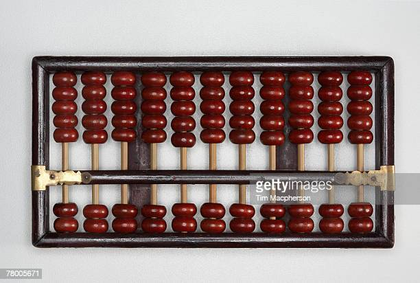 Abacus sitting on a tabletop.