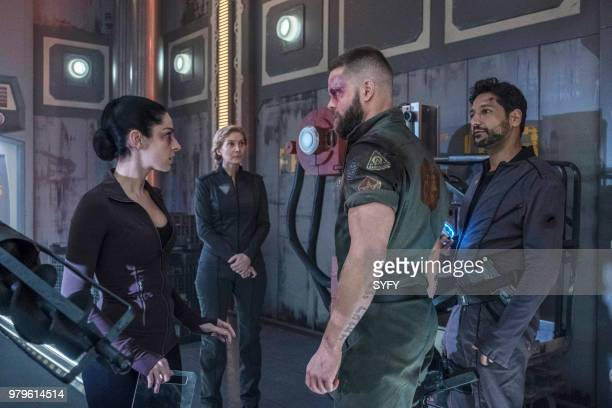 THE EXPANSE 'Abaddon's Gate' Episode 313 Pictured Anna Hopkins as Monica Stuart Elizabeth Mitchell as Anna Volovodov Wes Chatham as Amos Burton Cas...