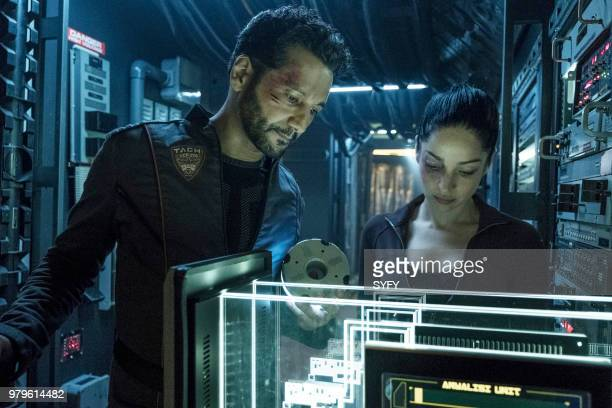 THE EXPANSE 'Abaddon's Gate' Episode 313 Pictured Cas Anvar as Alex Kamal Anna Hopkins as Monica Stuart