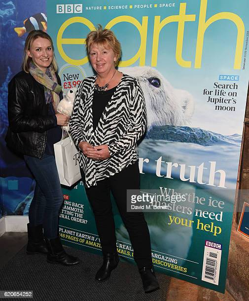 Abagail Gardiner and Anne Tudor attend the launch of BBC Earth magazine at SEA LIFE London Aquarium on November 2 2016 in London England