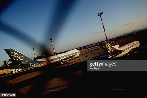 Abandoned aircrafts of former national carrier quotOlympic airwaysquot at the former Athens airport on June 8 2016 The Greek government on Tuesday...