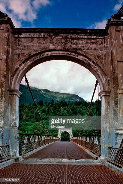 Abandoned Alexandra Bridge across the Fraser River in British Columbia