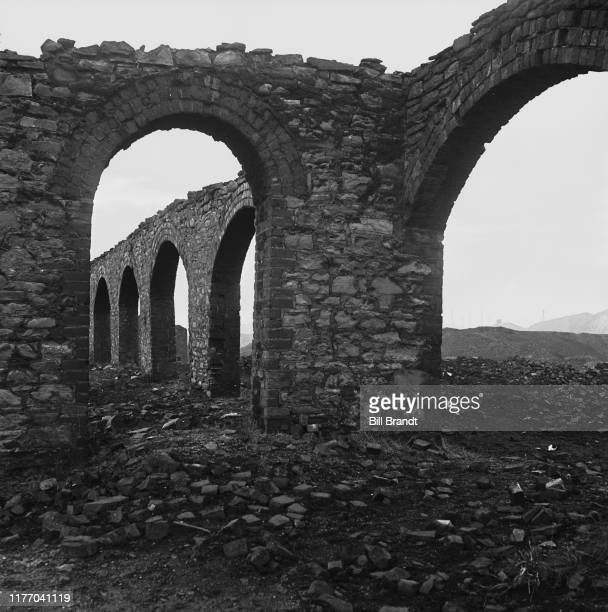 Abandoned and derelict copper smelting works in the Swansea Valley in South Wales 1943 Original Publication Picture Post story 1448 The Story of the...
