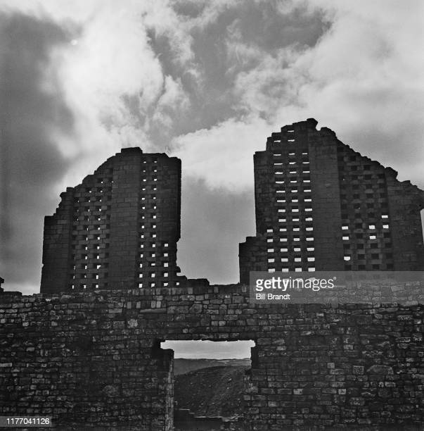 Abandoned and derelict industrial buildings in the industrialised Swansea Valley in South Wales 1943 Original Publication Picture Post story 1448 The...