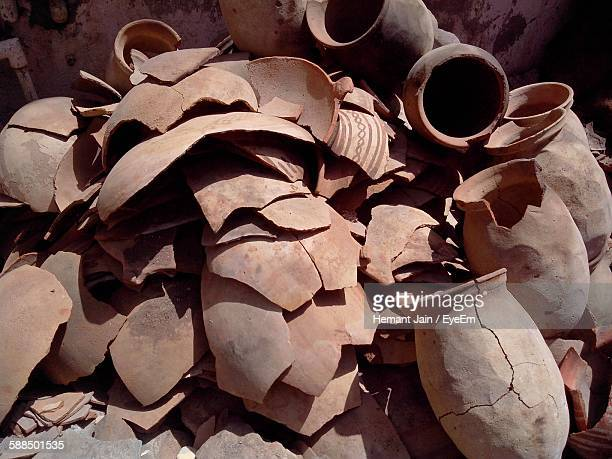 Abandoned Antique Stacked Amphoras