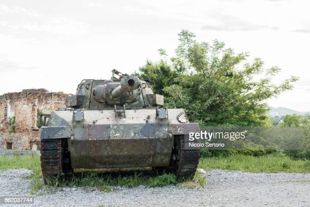 Abandoned armored tank