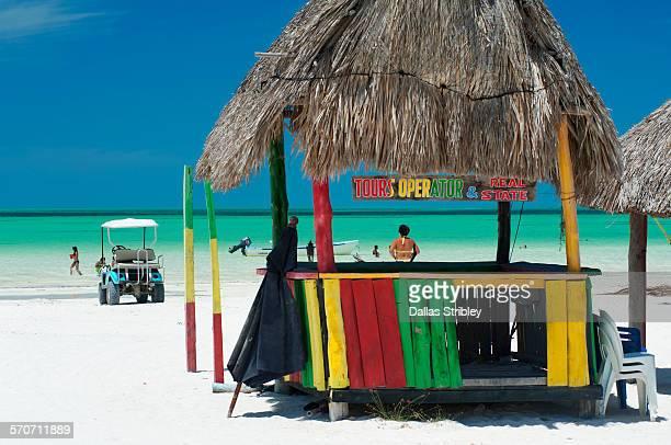 Abandoned beach hut on Holbox Island, Mexico
