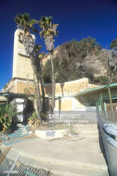 Abandoned beach restaurant Malibu California