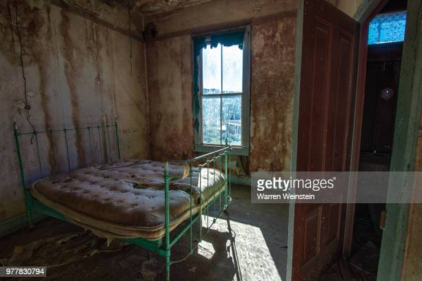 abandoned bedroom, bodie state historic park, california, usa - weinstein stock pictures, royalty-free photos & images