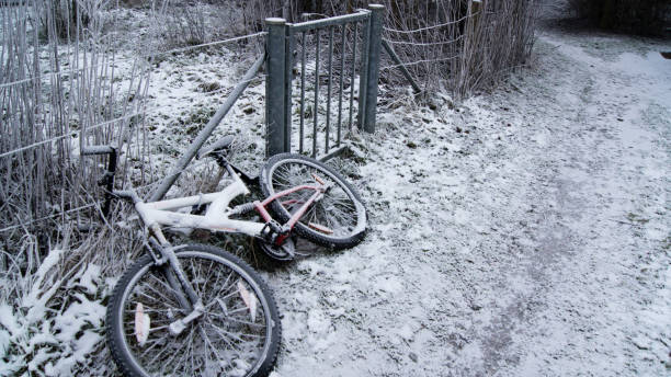 Abandoned Bike Covered With Snow