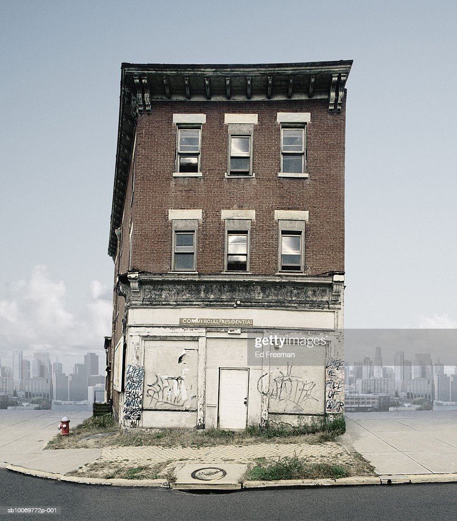 Abandoned Building In Urban Environment High-Res Stock