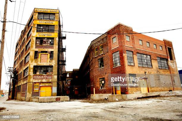 abandoned buildings, chicago, illinois, usa - chicago illinois stock pictures, royalty-free photos & images