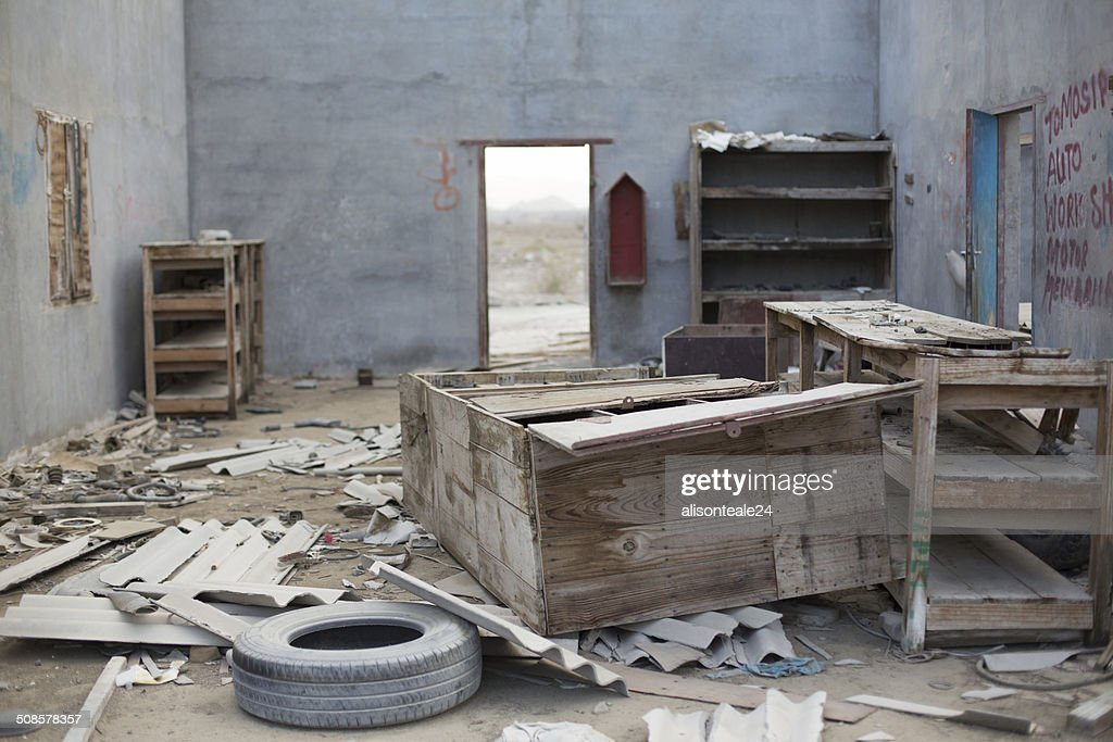 Abandoned buildings, Dibba, UAE : Stock Photo