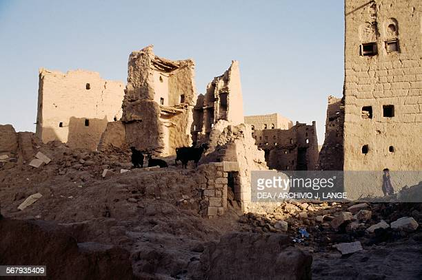 Abandoned buildings in the old city of Ma'rib, Yemen.