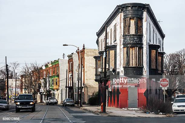 Abandoned buildings on Germantown Avenue, Philadelphia.