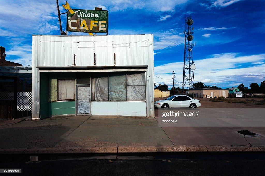 Verlassenen Café auf der Route 66, USA : Stock-Foto