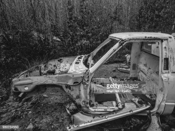 Abandoned Car At Forest