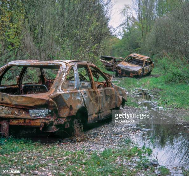 Abandoned car wrecks