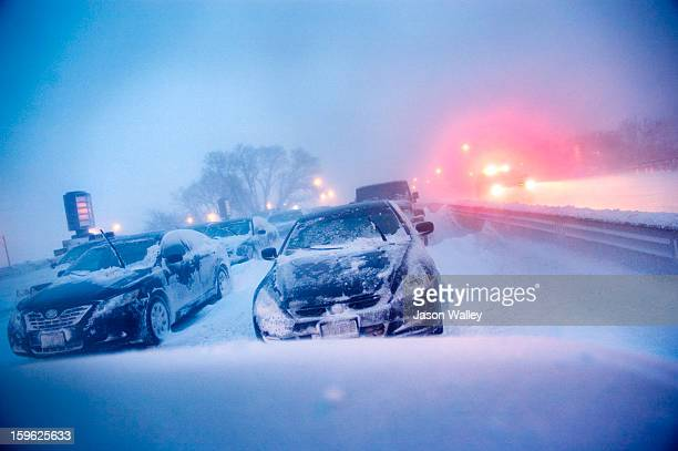 Abandoned Cars on Lake Shore Drive in Chicago