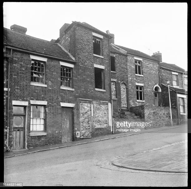Abandoned derelict houses StokeonTrent 19651968 The exact location is unidentified but may be in the Hanley or Burslem areas of Stoke Artist Eileen...