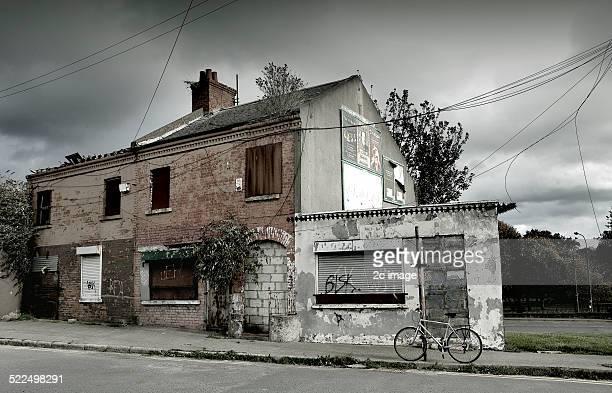 Abandoned Derelict shops Broadstone Dublin Ireland